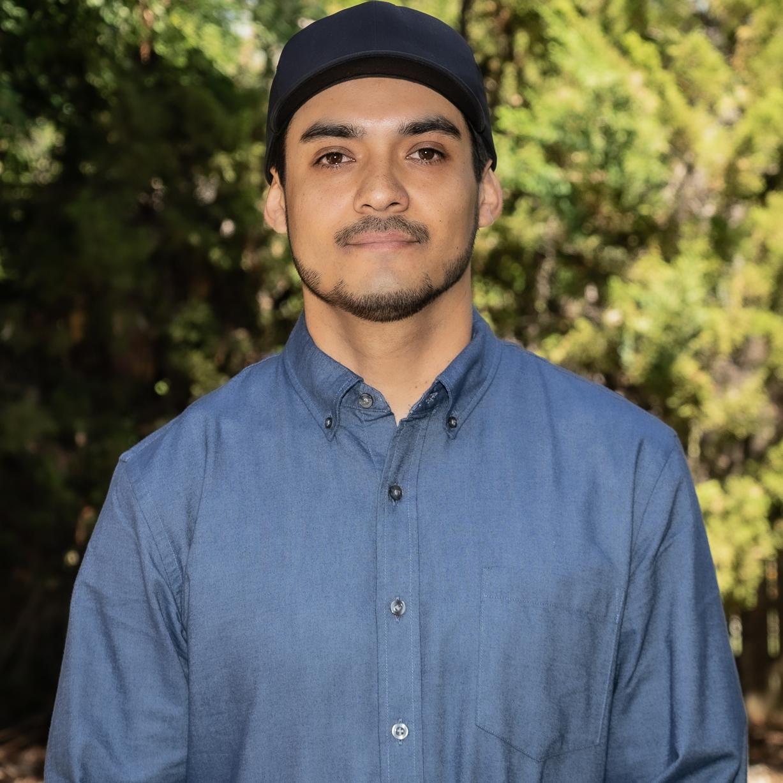 Portrait, Eric Pacheco, with cap