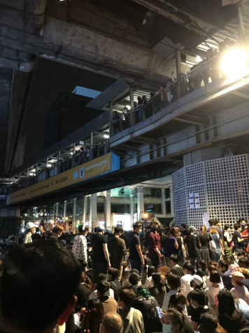 Protest, people gathered in subway
