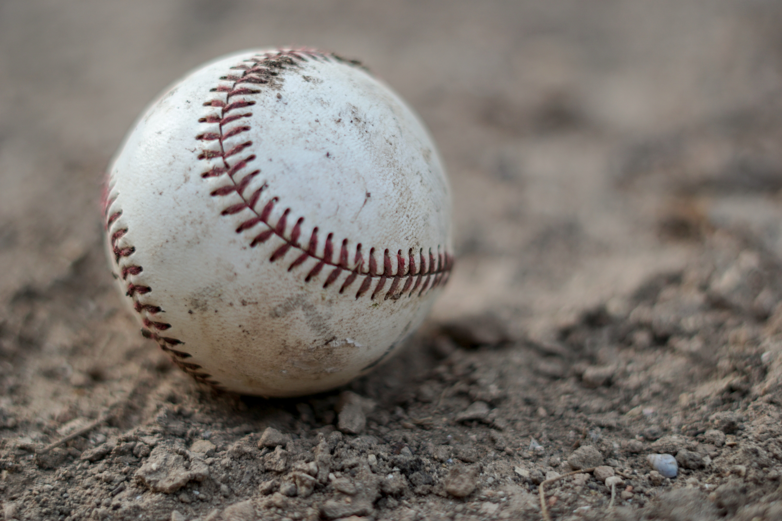 baseball on dirt
